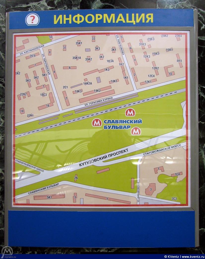 Карта в вестибюле