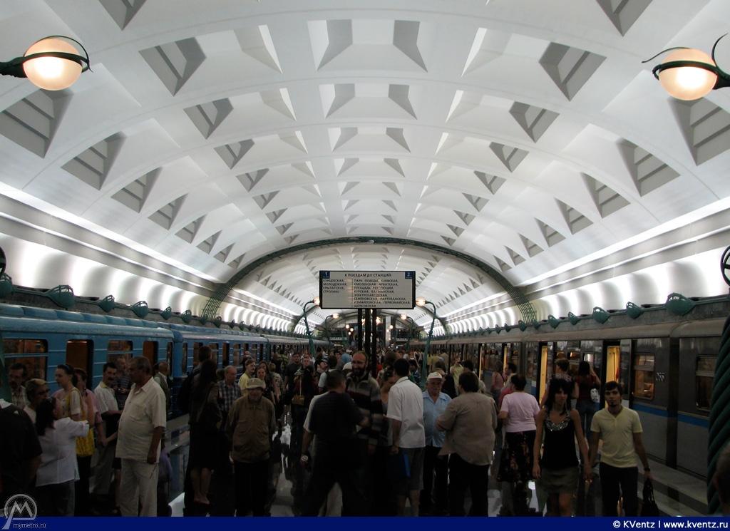 Общий вид платформы станции