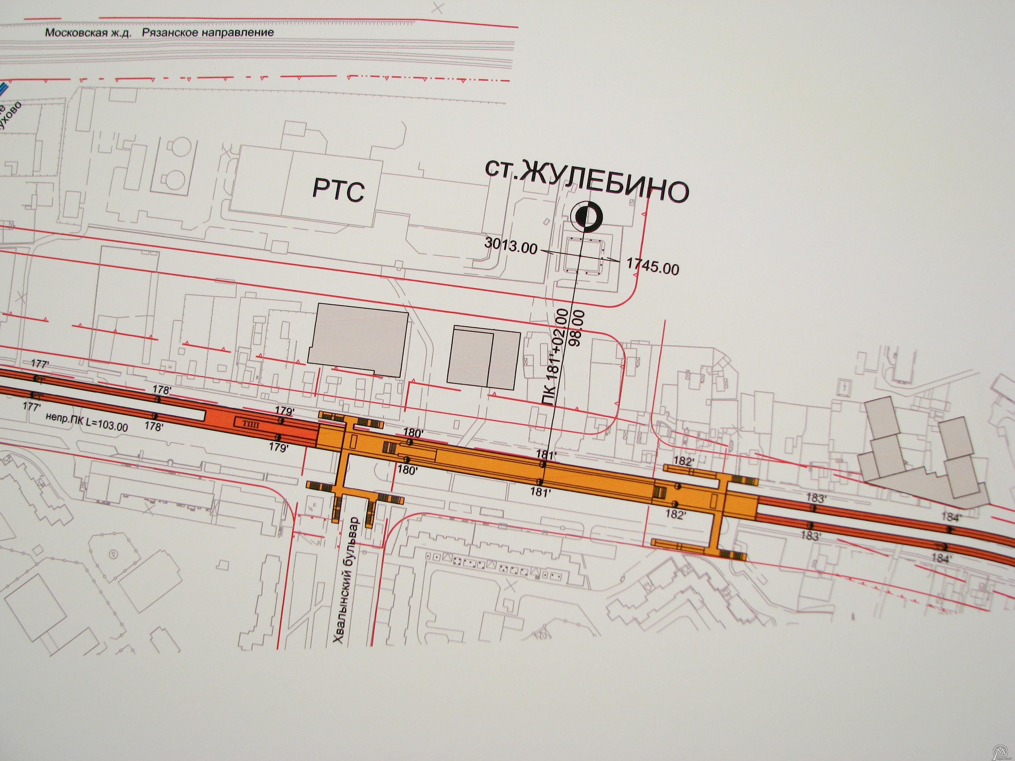 Жулебино схема станции