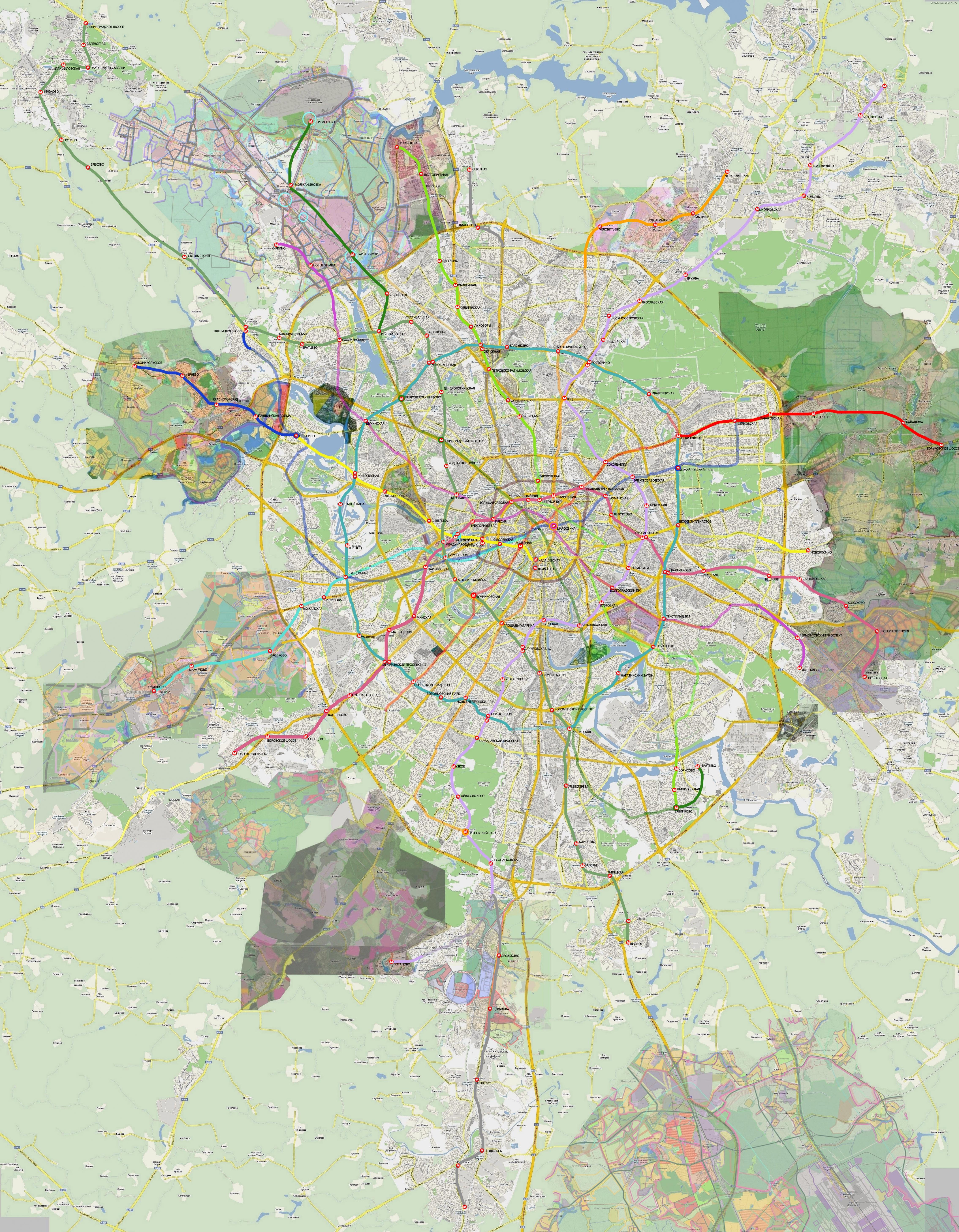 перспективная схема метро на 2017 г