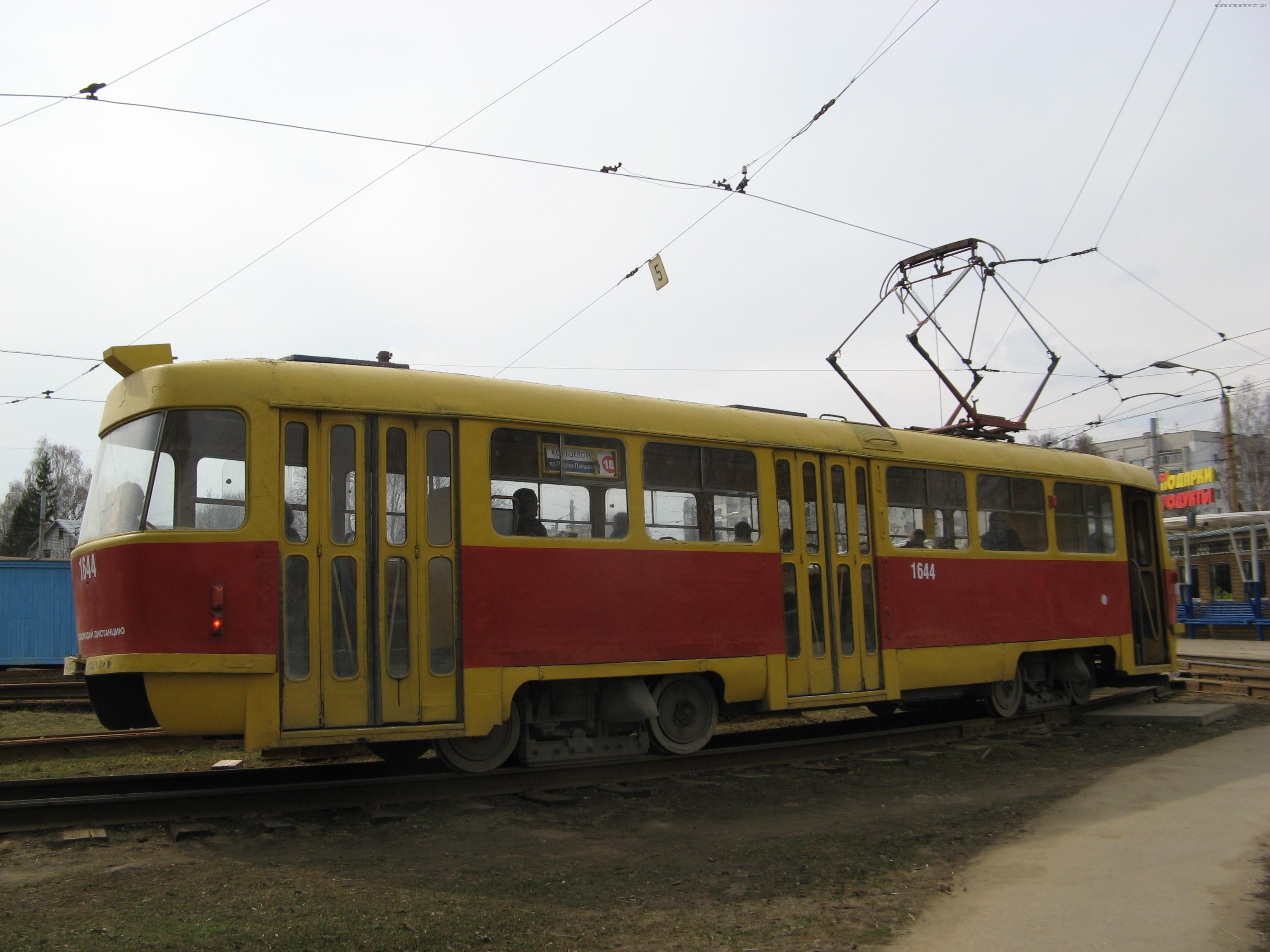 Трамвай-Подвижной состав-Модернизированная Татра Т3 на маршруте 1-послать открытку Транспорт Нижнего Новгорода.