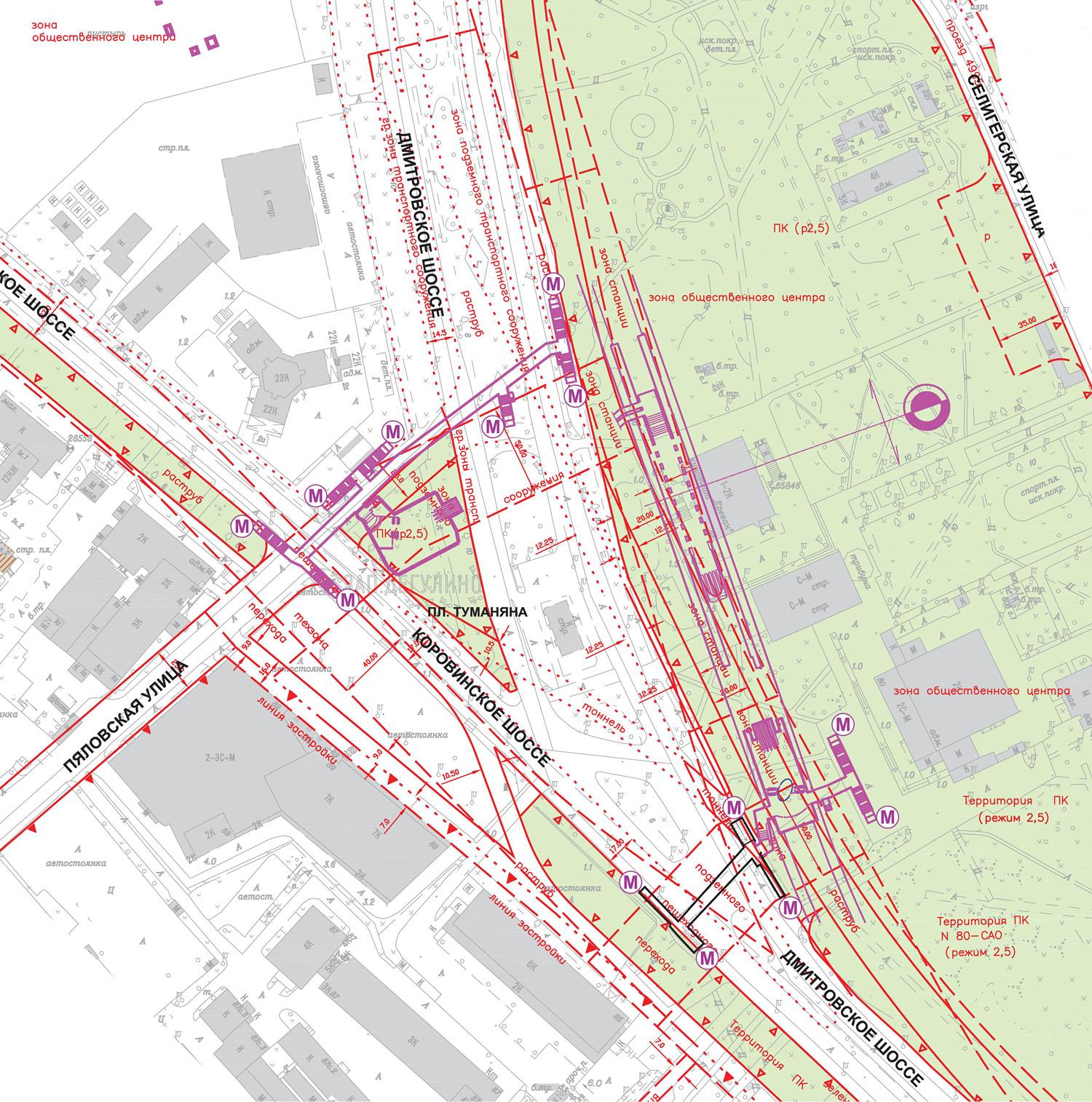 выхода селигерская схема станции