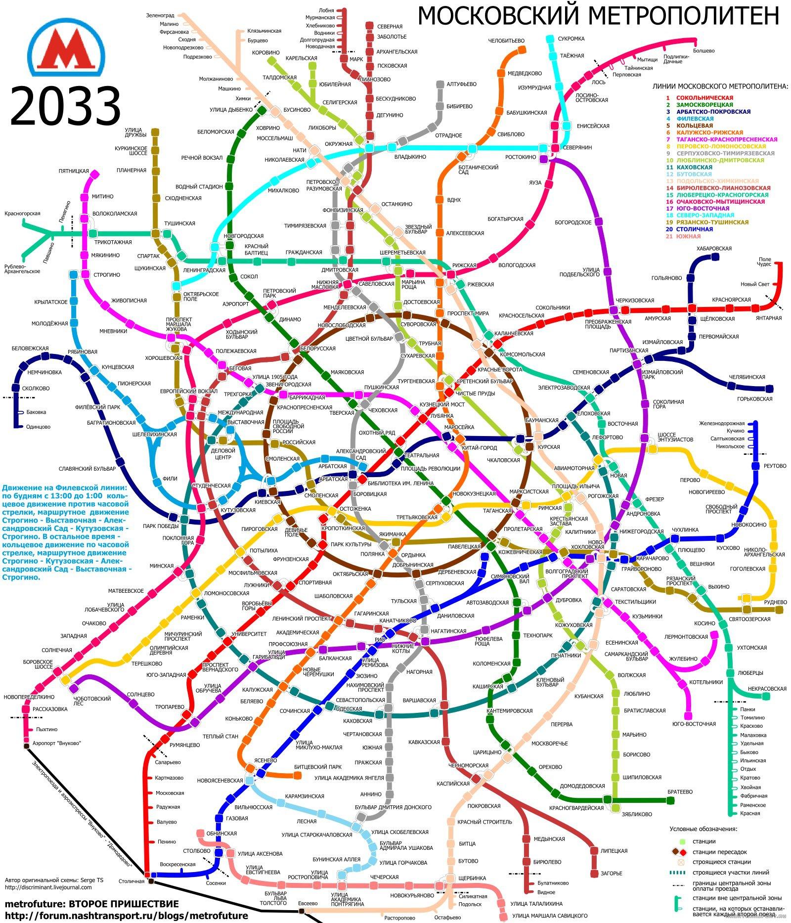Схема развития легкого метро москвы