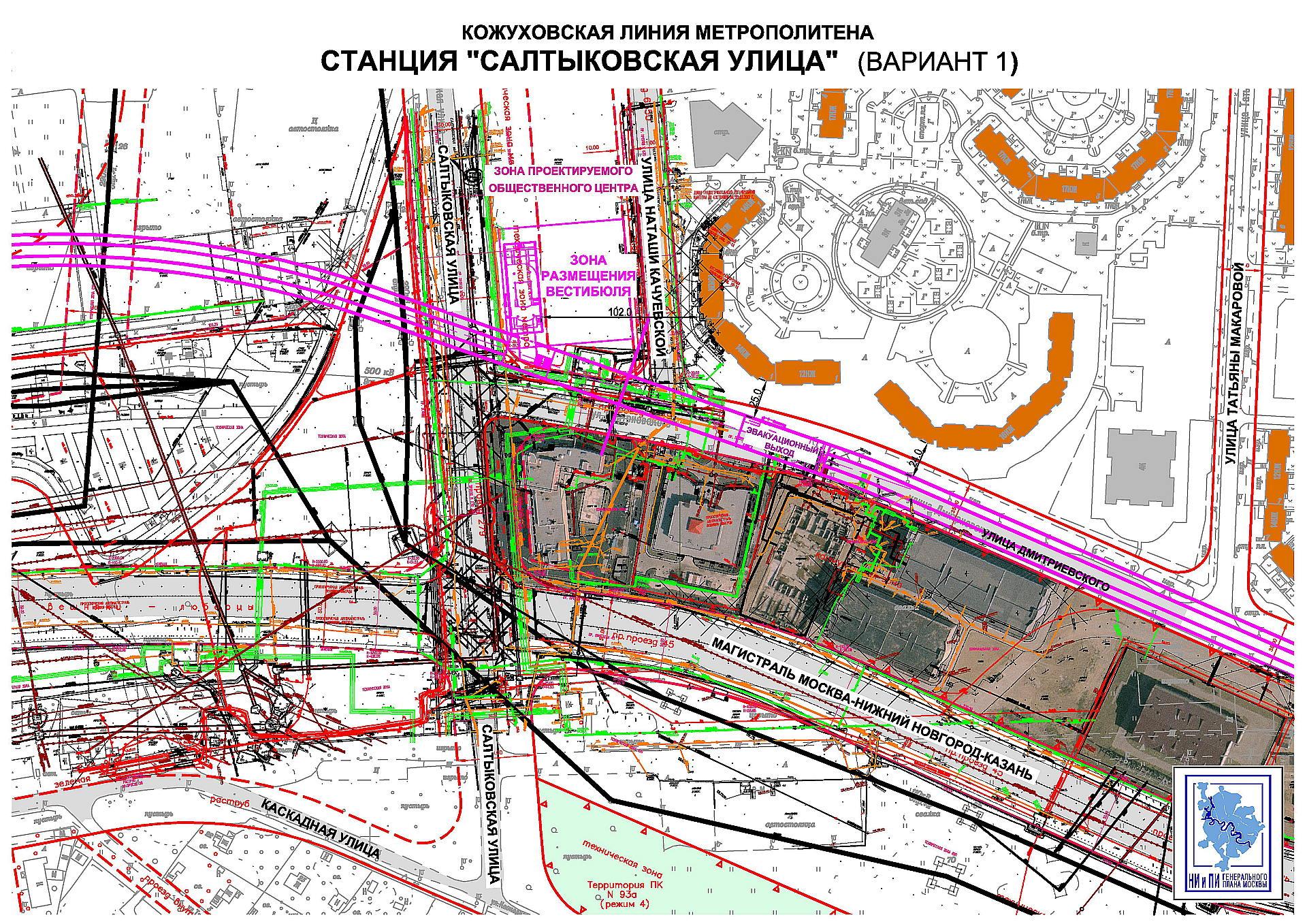 Станция ухтомская схема