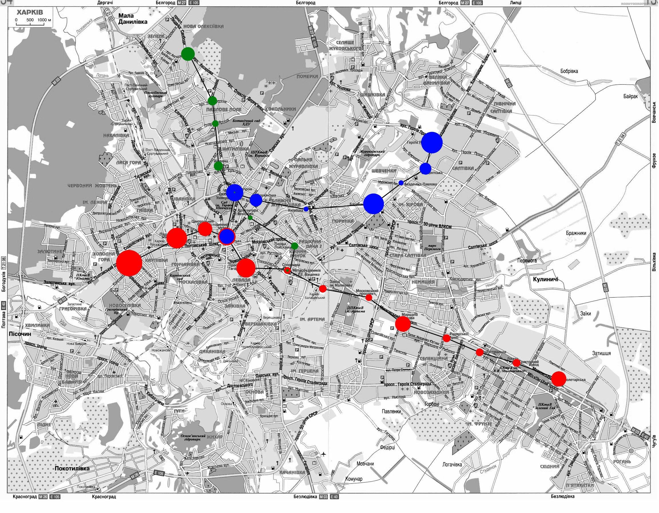 харьков схема метро с улицами