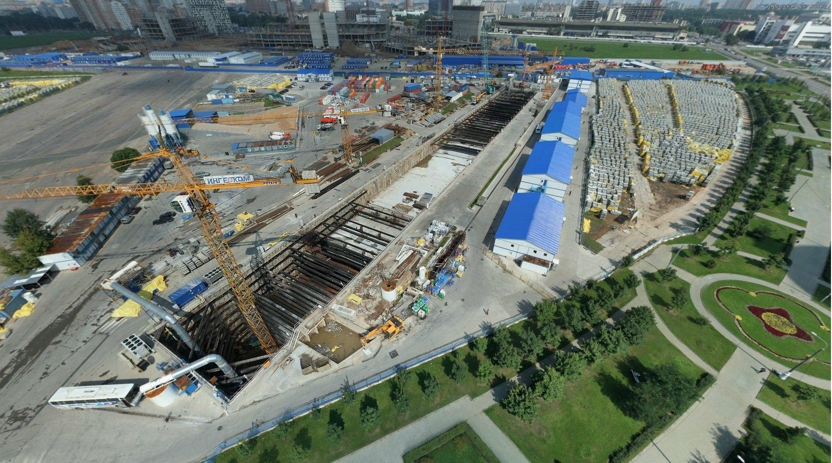 строительство метро ходынское поле схема