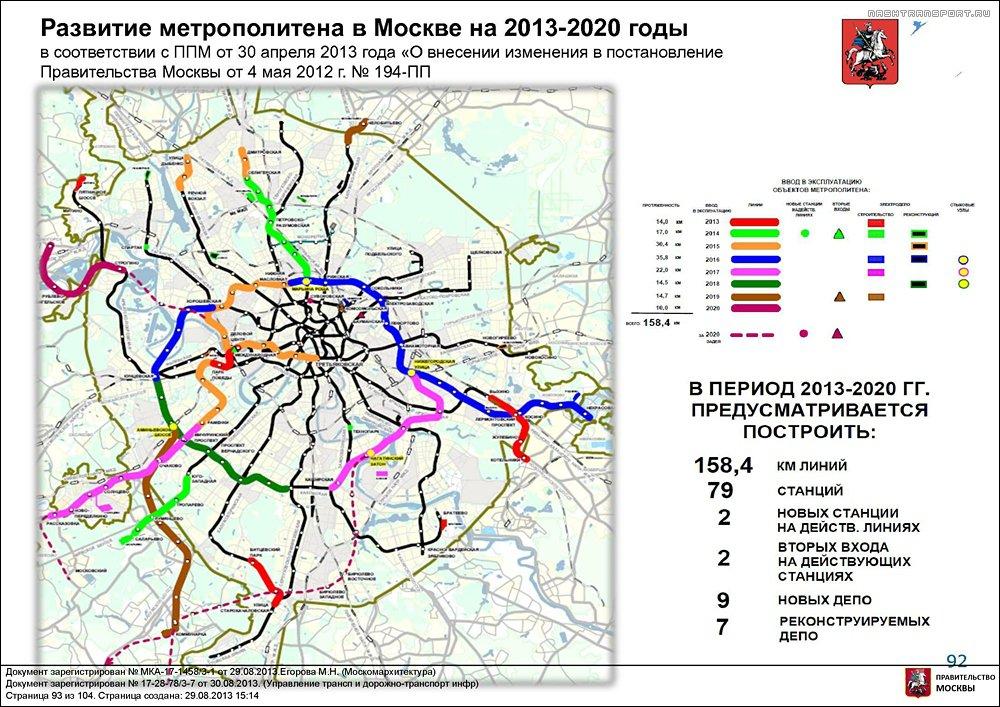линия в Новую Москву через