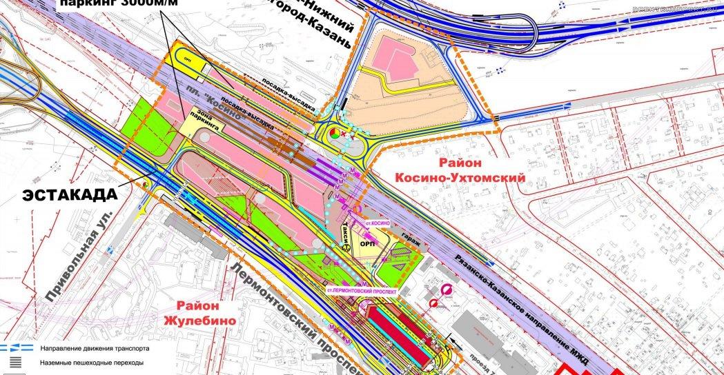 Схема метро косино ухтомское