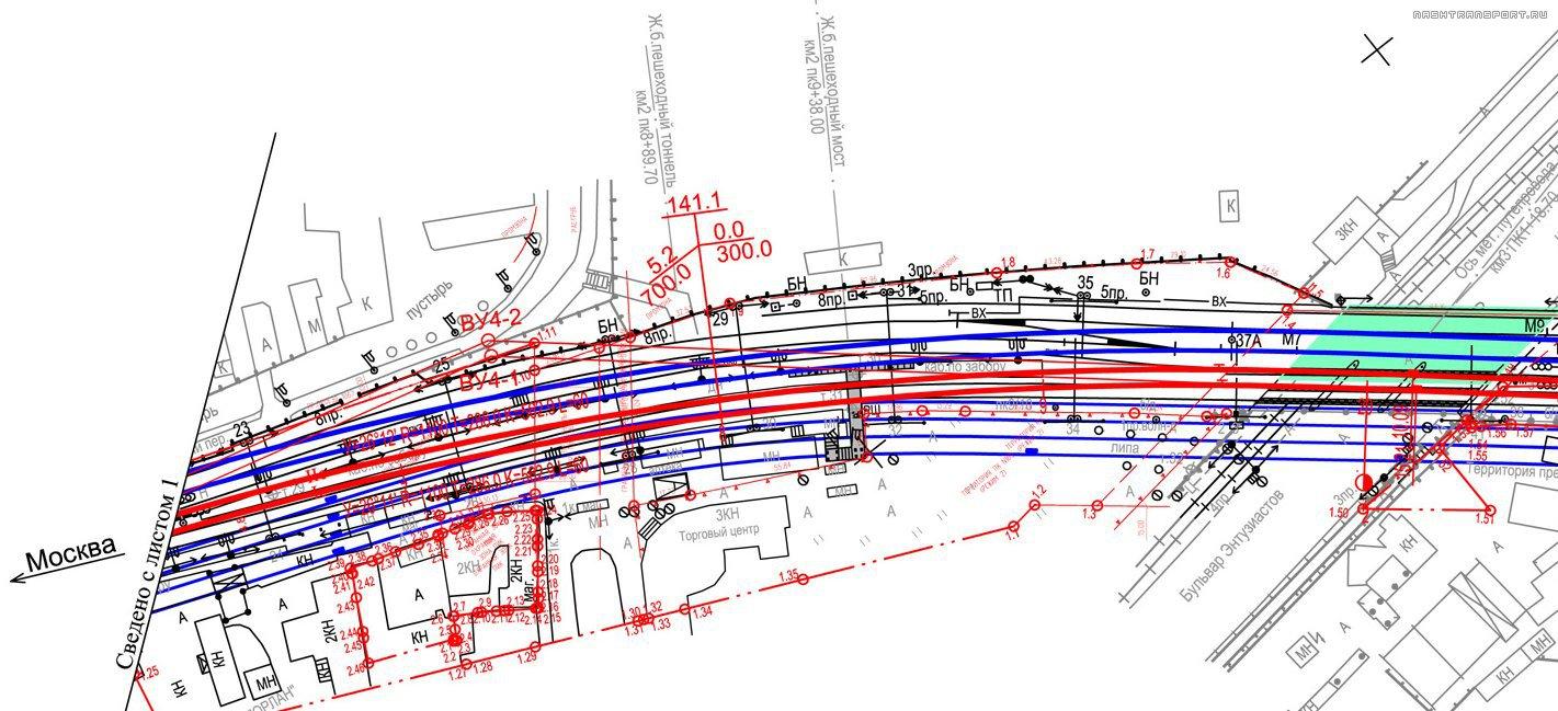 схема путей на плотформе каланчевская