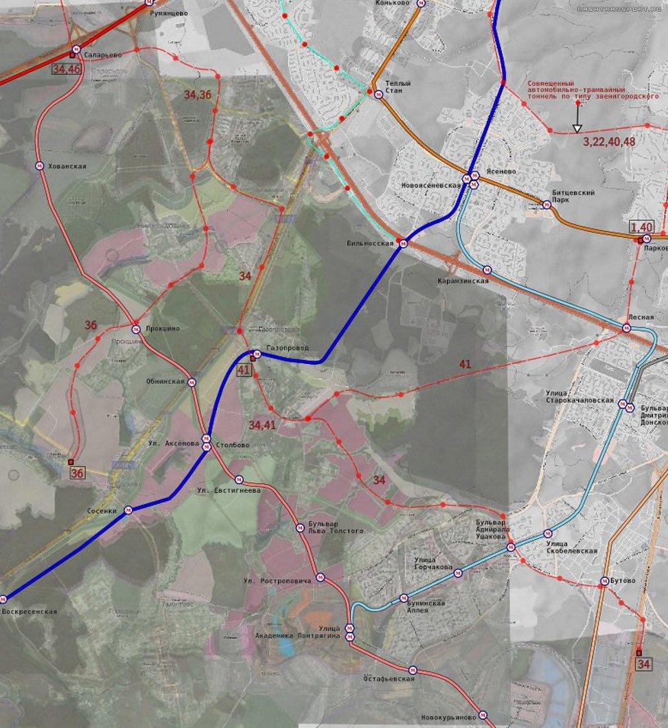 перспективная схема наземного метро в подмосковье