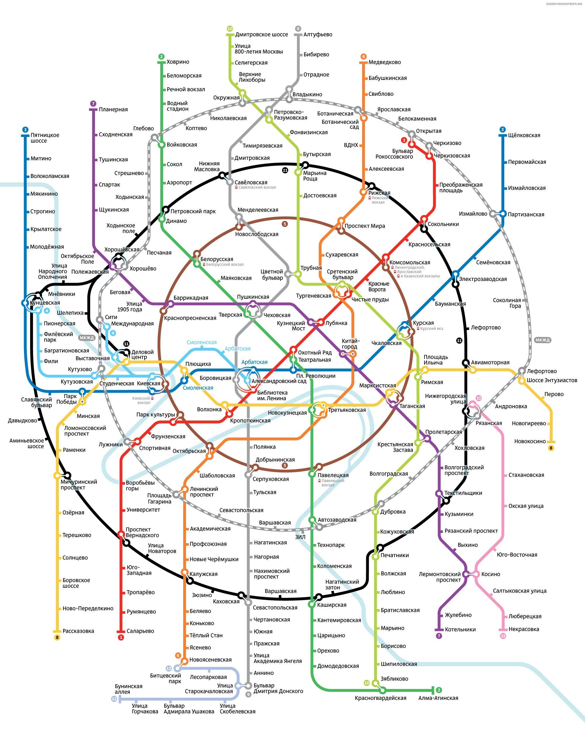 Схема метро с третьим контуром